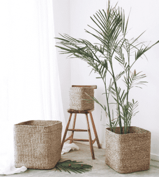 Greenery Square Garden Basket 01