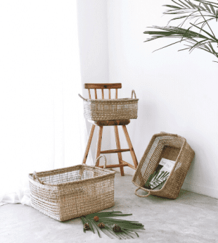 Greenery Stylish Seagrass Basket 25
