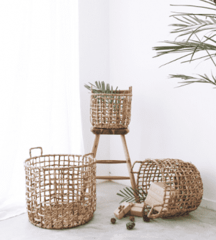 Greenery Rustic Metal Basket 21
