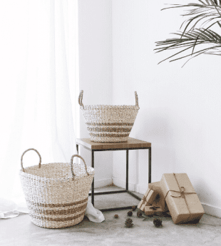 Greenery Decorative Natural Basket 09