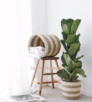 Greenery Seagrass Basket Planter 06 Wholesale
