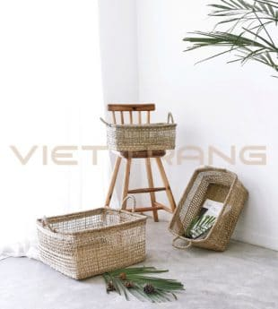 Greenery Seagrass Laundry Basket 25