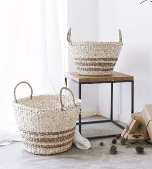 Greenery Seagrass Storage Basket 09 Wholesale