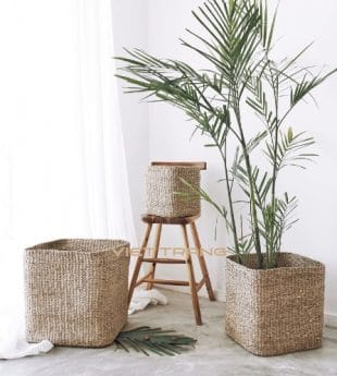 [Best Selling] Greenery Woven Seagrass Basket 01