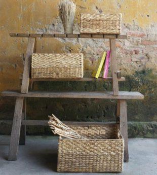 Mekong River Water Hyacinth Basket Rectangle 02