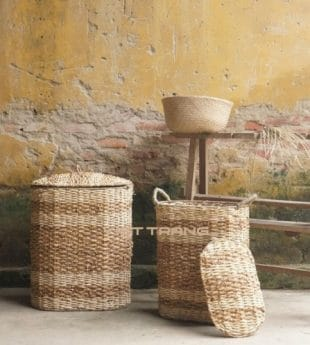 Mekong River Water Hyacinth Laundry Basket 04