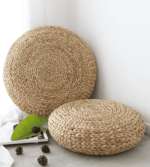Greenery Natural Fiber Pouf 03