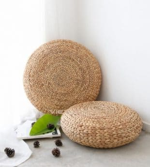 [Best Selling] Greenery Round Seagrass Pouf 03