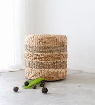[Best Selling] Greenery Seagrass Footstool 01