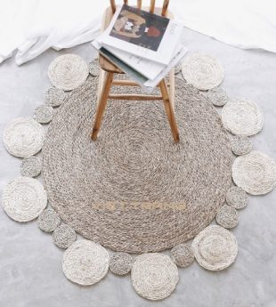 Greenery Seagrass Rug Round 21 Wholesale