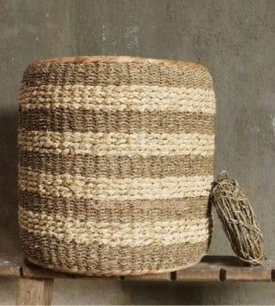 Mekong River Seagrass Pouf Ottoman 02 Wholesale
