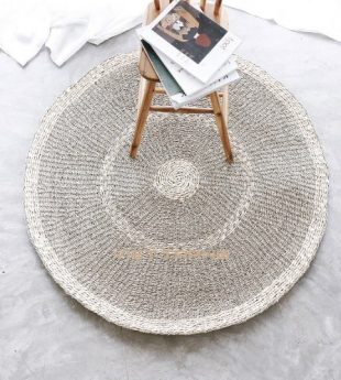 [Best Selling] Mekong River Seagrass Round Rug 18