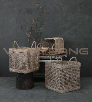 Wovenery Rustic Storage Basket 19