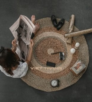 [Best Selling] Mekong River Seagrass Round Rug 10