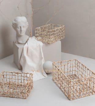 The Studio Seagrass Basket Rectangle 01 Wholesale