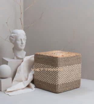 The Studio Seagrass Ottoman Cube 01 Wholesale