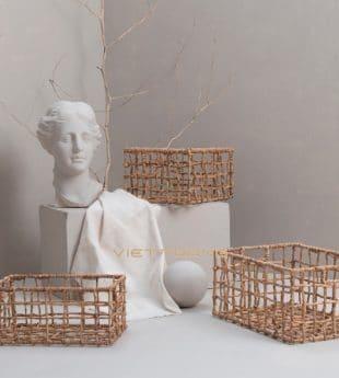 The Studio Water Hyacinth Basket Rectangle 02