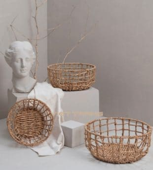 The Studio Water Hyacinth Basket Rectangle 07