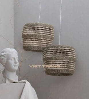 [Best Selling] The Studio Woven Seagrass Lampshade 01