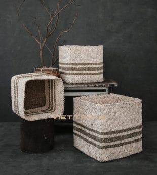 Wovenery Seagrass Laundry Basket 07 Wholesale