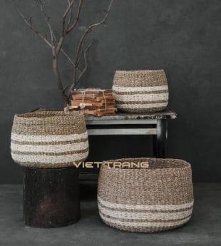 Wovenery Seagrass Laundry Basket 09 Wholesale