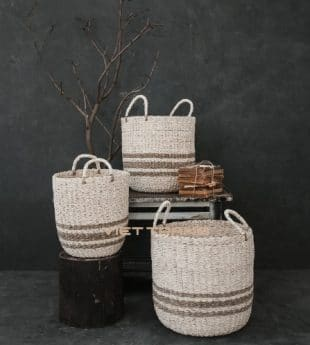 Wovenery Seagrass Laundry Hamper With Handles 04