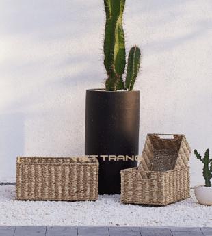 Oasis Seagrass Hamper Basket 20 Wholesale