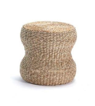 Oasis Seagrass Ottoman Round Pouf 12