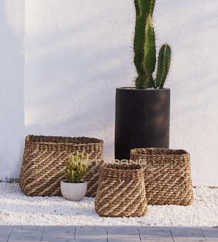 Oasis Seagrass Storage Basket 26 Wholesale