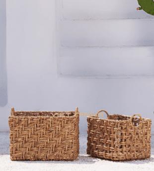 Oasis Water Hyacinth Hamper Basket 16 Wholesale