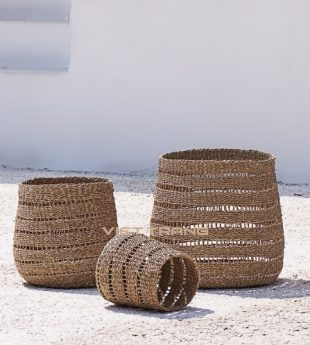 Oasis Seagrass Laundry Basket 05 Wholesale