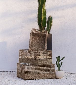 Oasis Seagrass Basket Rectangle 18 Wholesale
