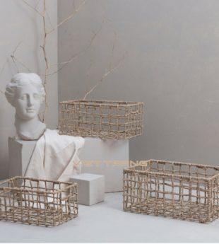 The Studio Seagrass Basket Rectangle 04 Wholesale