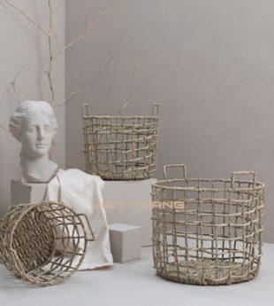 The Studio Seagrass Storage Basket 06 Wholesale