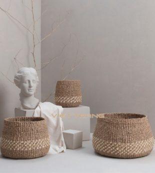 The Studio Seagrass Storage Basket 27 Wholesale
