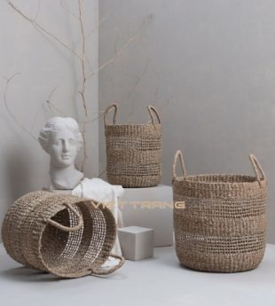 The Studio Seagrass Storage Basket With Handles 36
