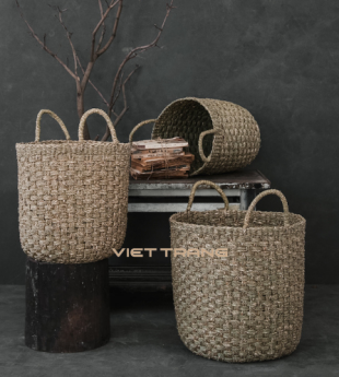 Wovenery Seagrass Laundry Basket With Handles 16